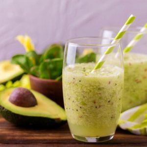 grüner kombucha smoothie rezept avocado