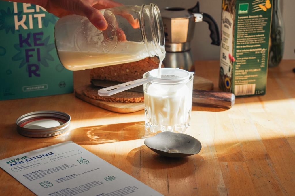 Kefir selber machen, Kefir, Milchkefir,