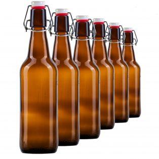 6er Set Bügelverschluss-Flaschen 0,5 l, fairment, fermentieren, fermentation, kombucha, kefir, kaufen, milchkefir, wasserkefir, scoby, kraut, sauerkraut, gurken