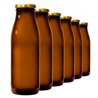 6er Set Weithalsflaschen 0,5 L mit Deckel, fairment, fermentieren, fermentation, kombucha, kefir, kaufen, milchkefir, wasserkefir, scoby, kraut, sauerkraut, gurken
