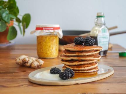 Pancakes mit Ginger Bug, fairment, fermentation