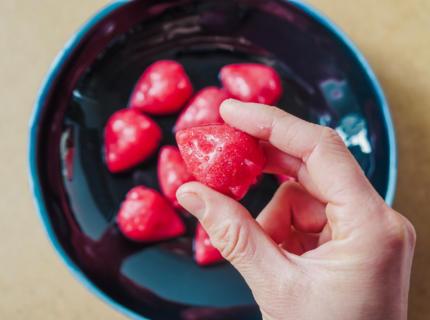 Probiotische Kombucha-Himbeer-Gummis