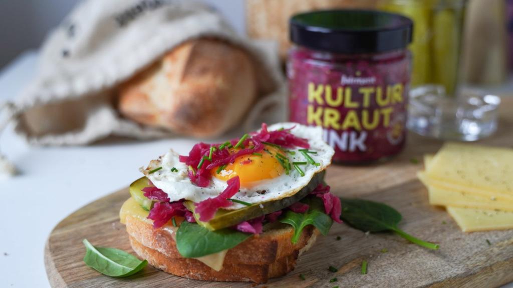 sandwich, fairment, rezept, rotkraut, kultur kraut