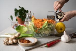 Quitten Kimchi Vorbereitung