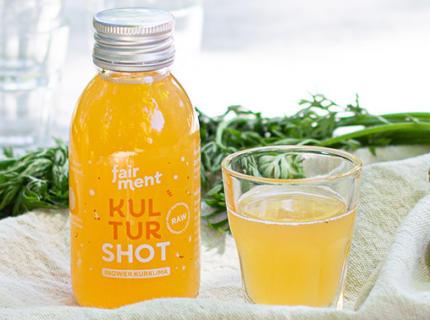 Kurkuma Shot, fairment, Shots, gelb