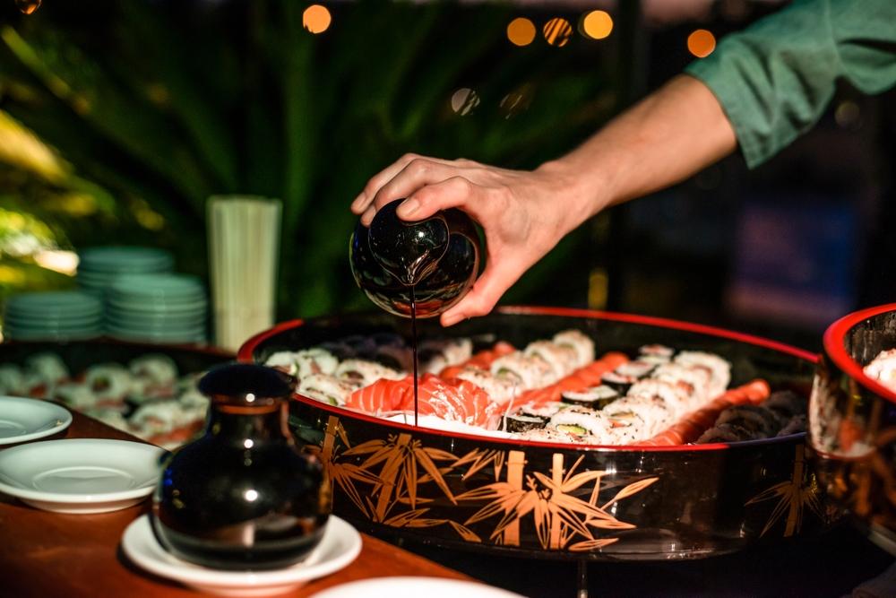 Shoyu Verwendung, Sojasauce, Sushi, fairment